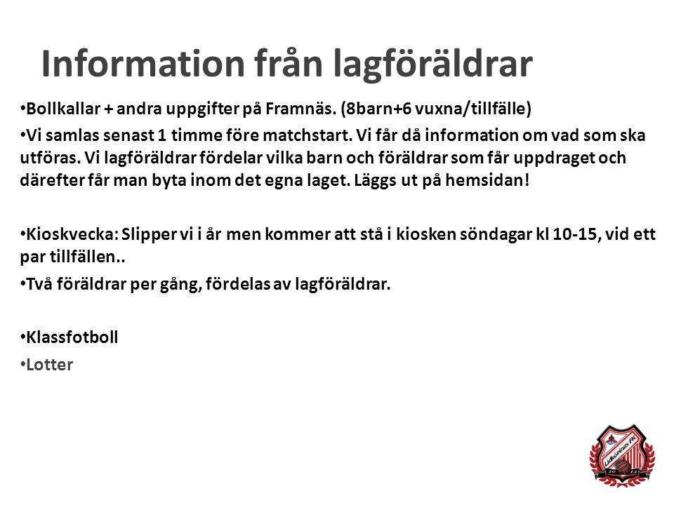 Information från lagföräldrar