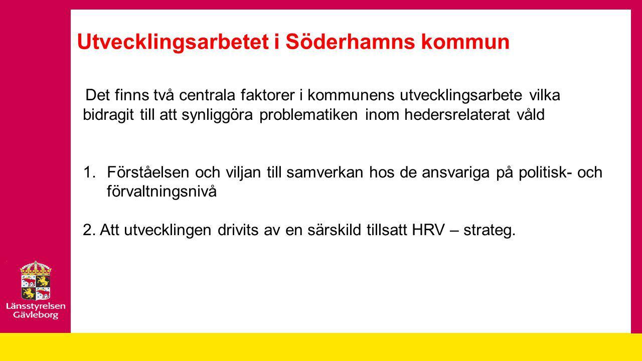 Utvecklingsarbetet i Söderhamns kommun