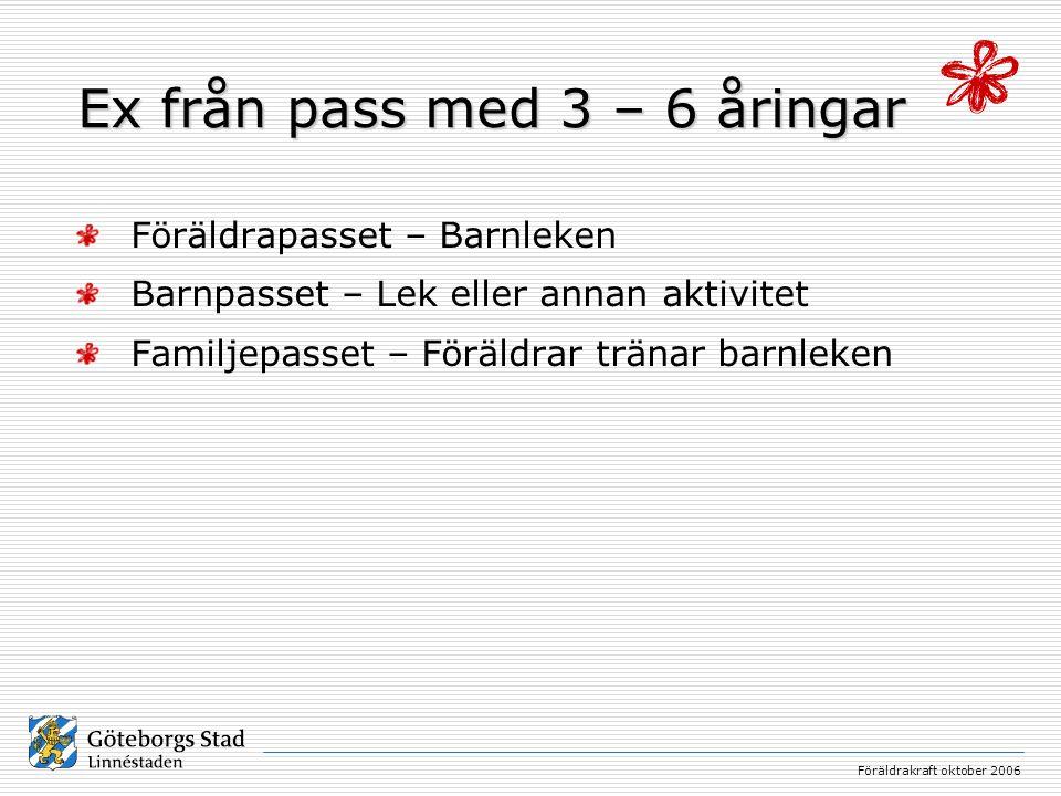 Ex från pass med 3 – 6 åringar