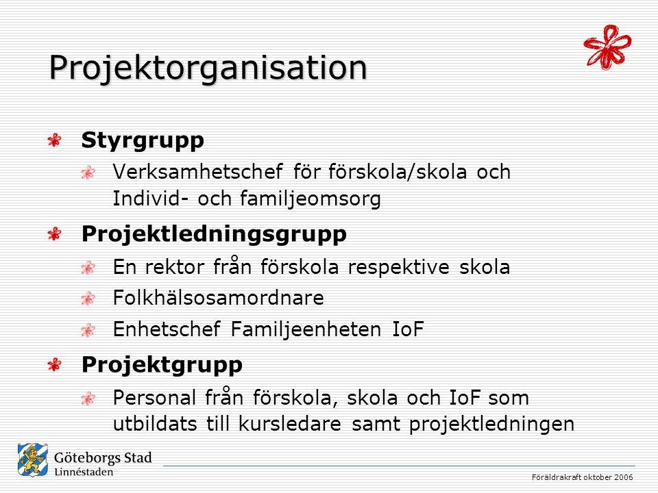 Projektorganisation Styrgrupp Projektledningsgrupp Projektgrupp