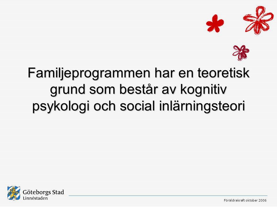 Familjeprogrammen har en teoretisk grund som består av kognitiv psykologi och social inlärningsteori