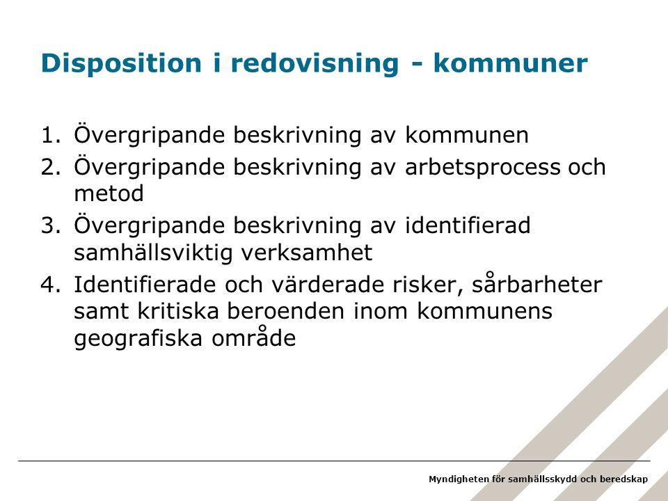 Disposition i redovisning - kommuner