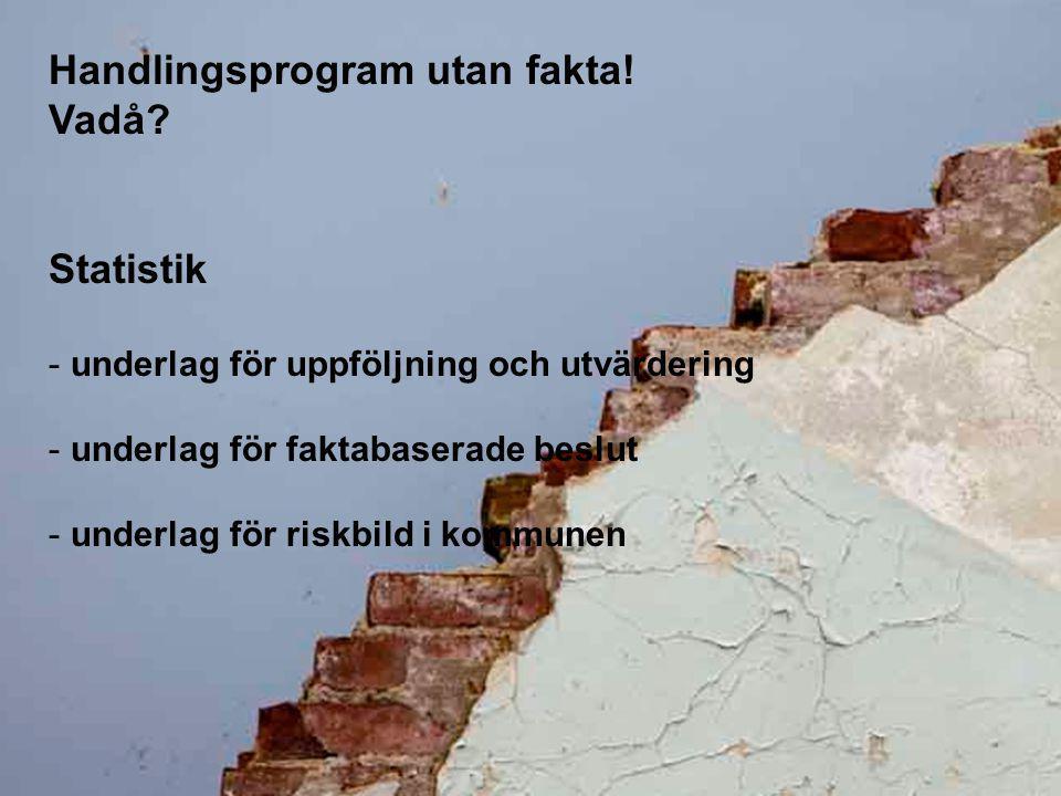 Handlingsprogram utan fakta! Vadå