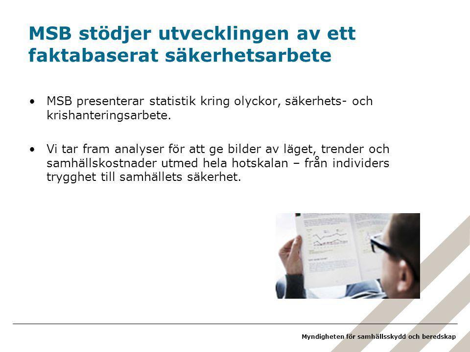 MSB stödjer utvecklingen av ett faktabaserat säkerhetsarbete