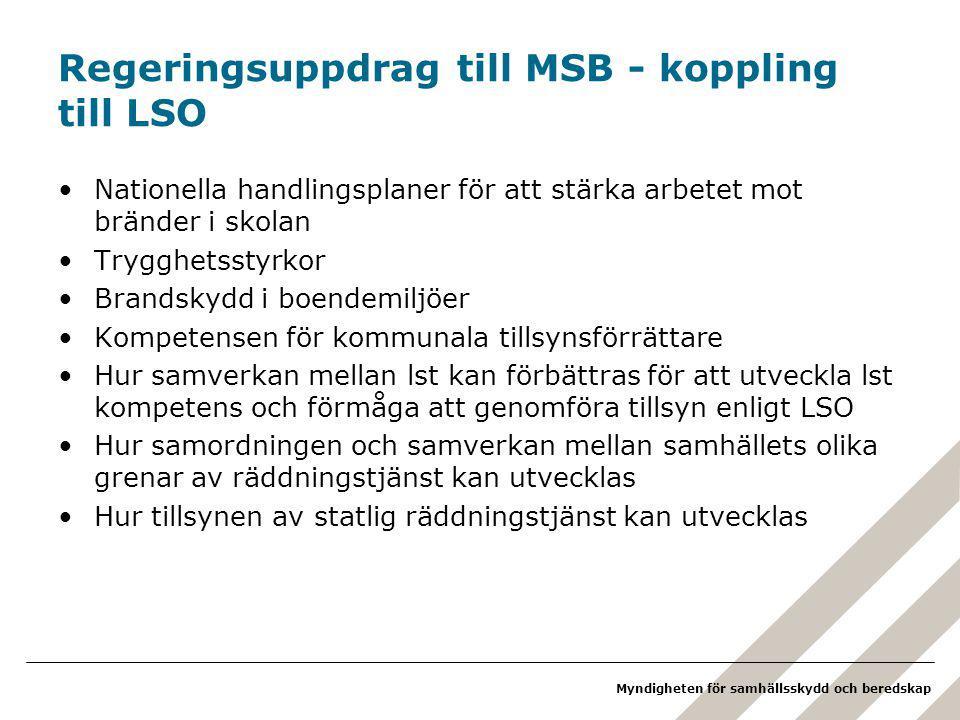 Regeringsuppdrag till MSB - koppling till LSO