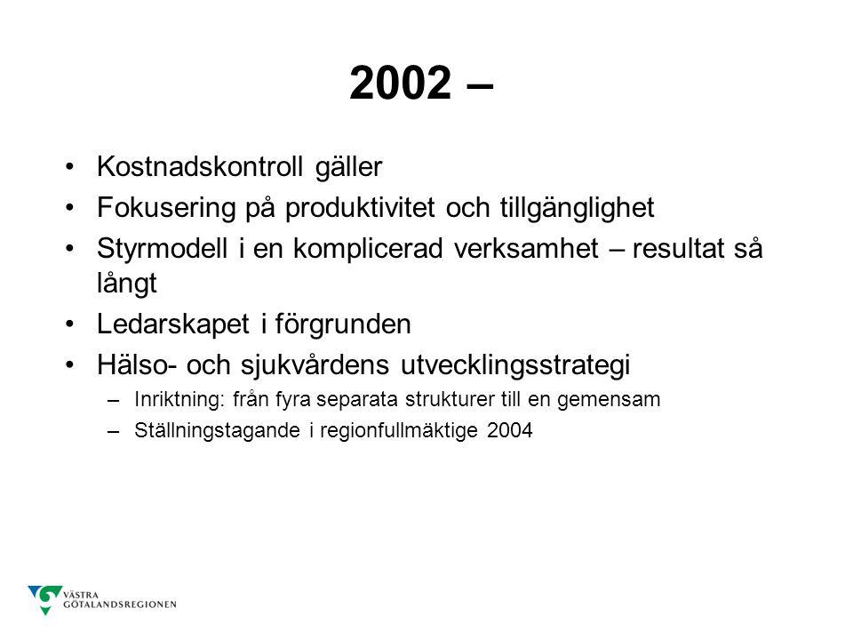 2002 – Kostnadskontroll gäller