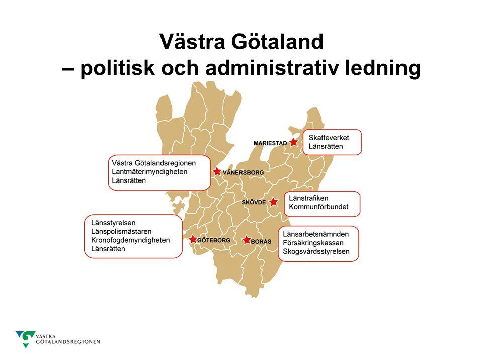 Västra Götaland – politisk och administrativ ledning