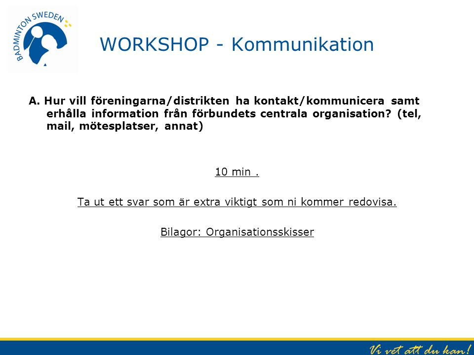 WORKSHOP - Kommunikation