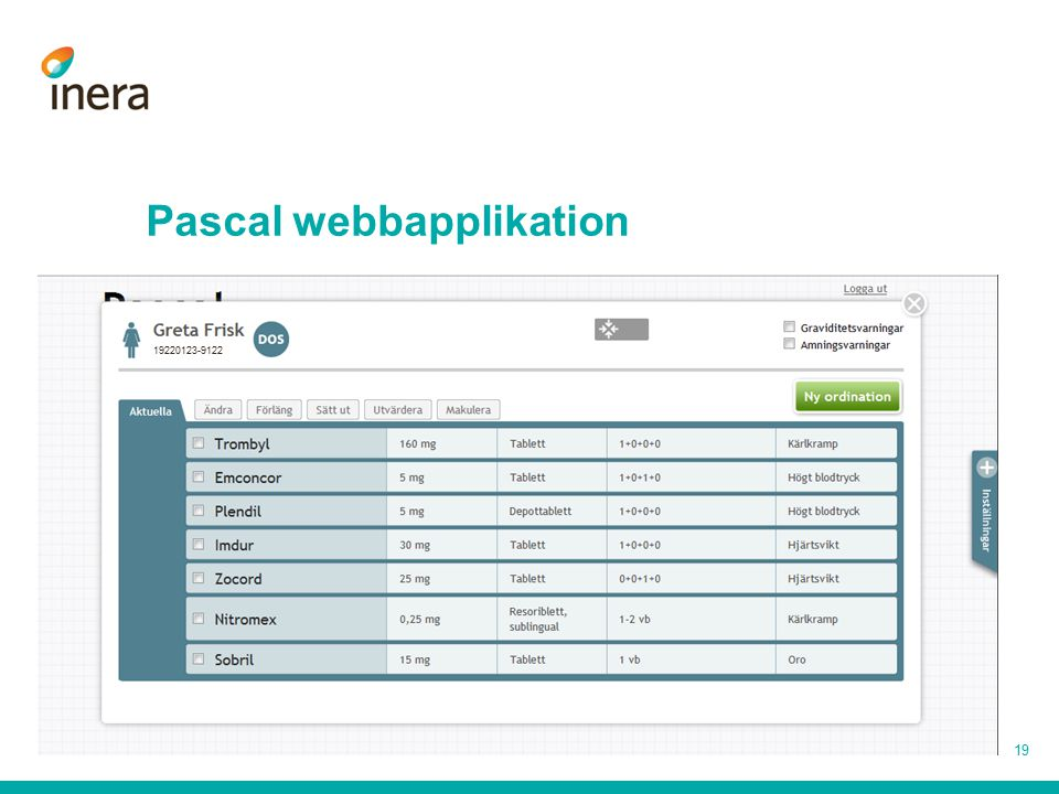 Pascal webbapplikation