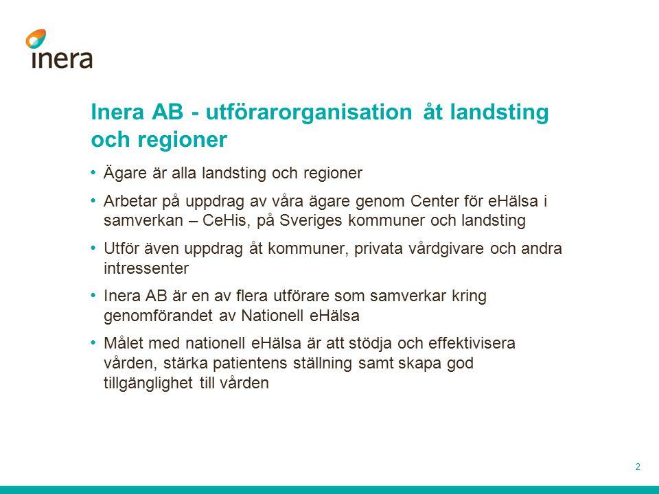 Inera AB - utförarorganisation åt landsting och regioner