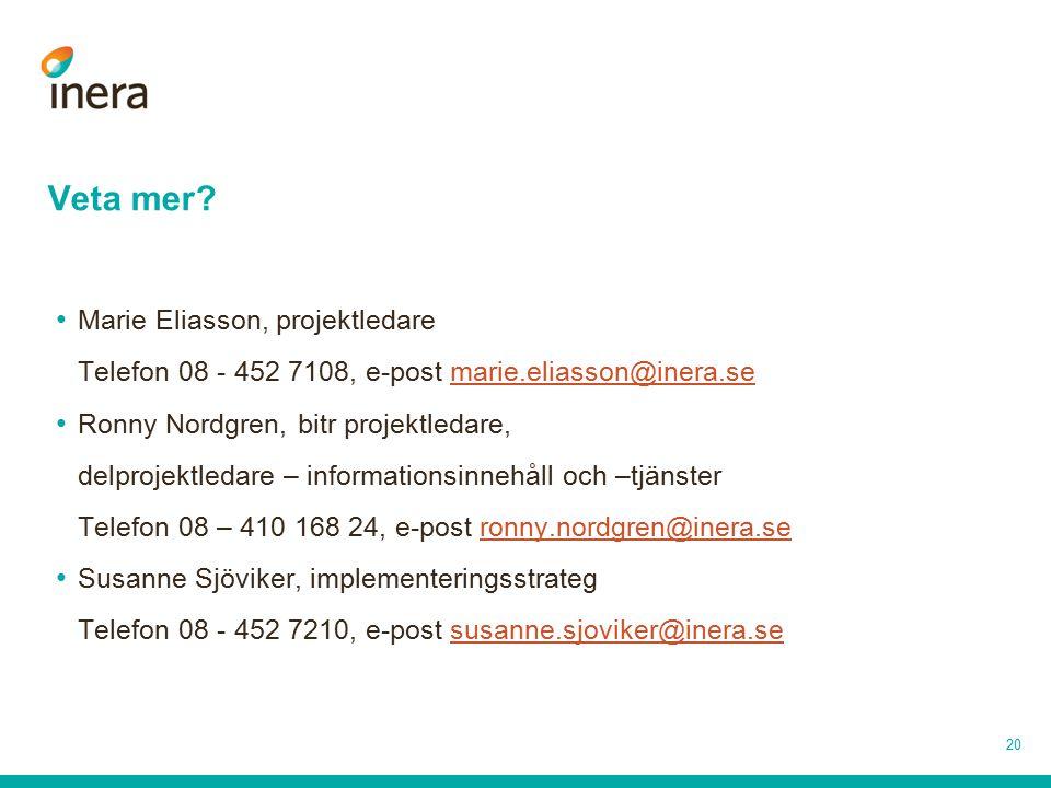 Veta mer Marie Eliasson, projektledare