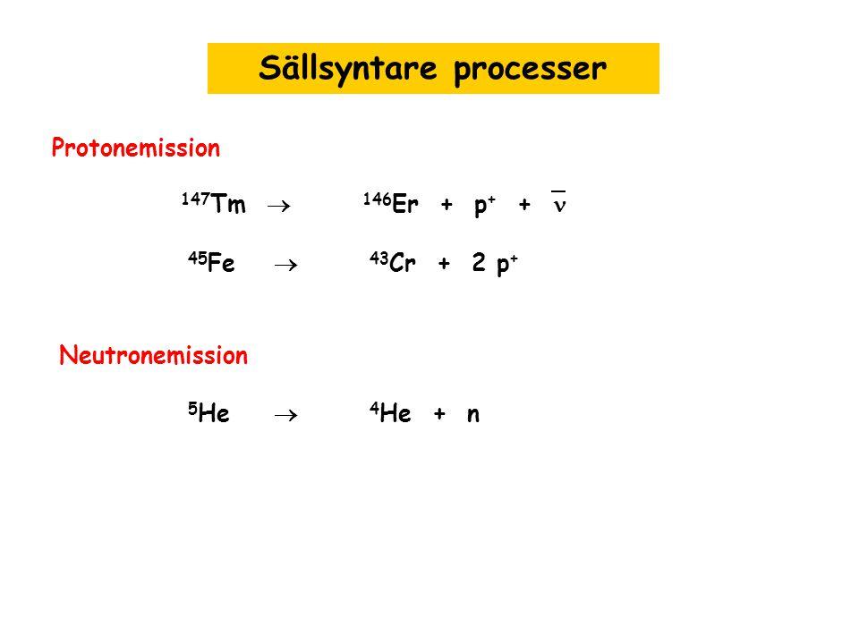 Sällsyntare processer