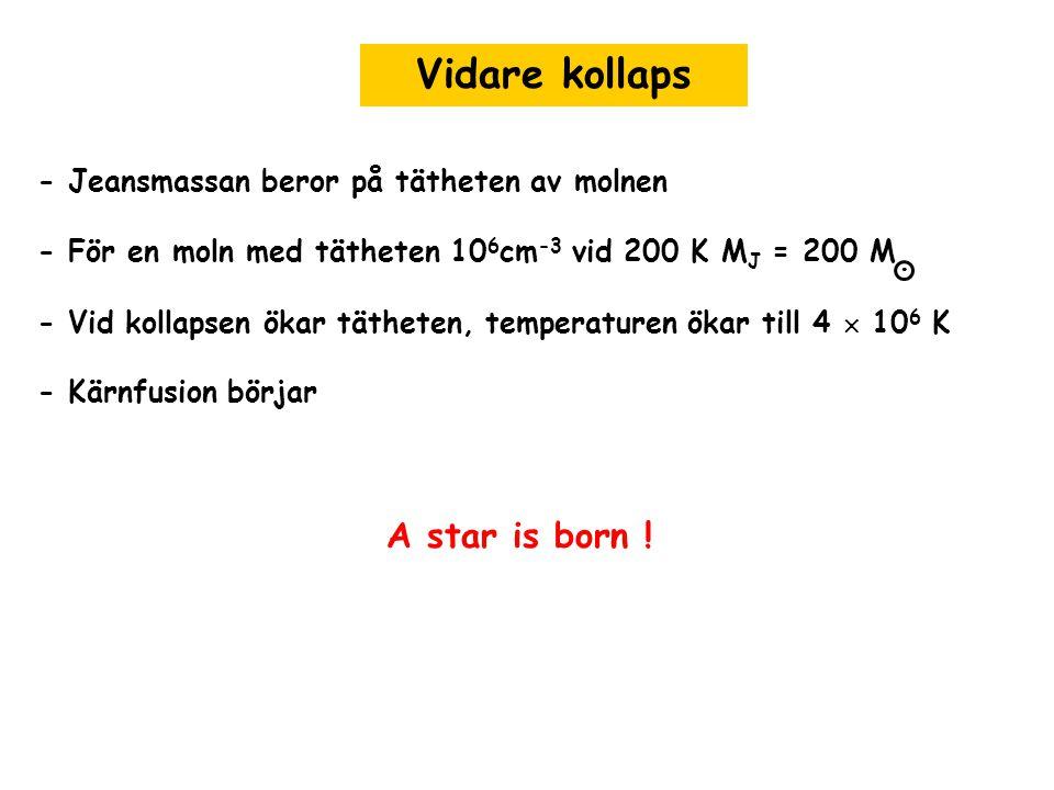 Vidare kollaps A star is born !