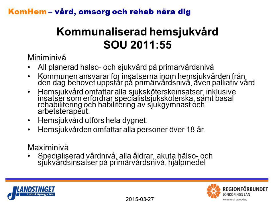Kommunaliserad hemsjukvård SOU 2011:55