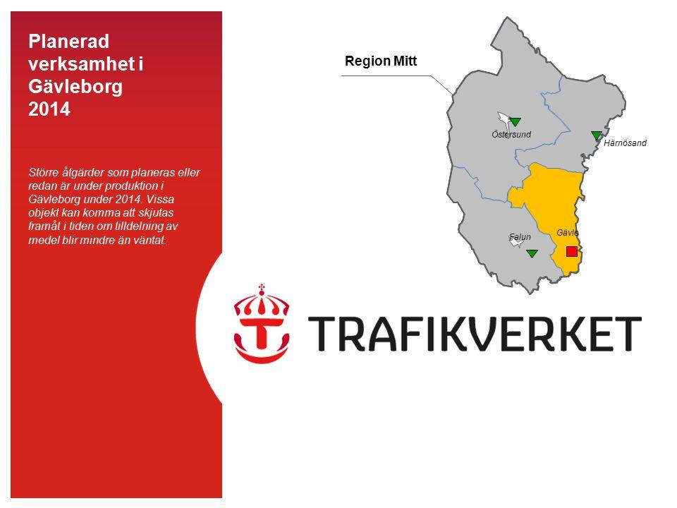 Region Mitt Östersund. Falun. Gävle. Härnösand.