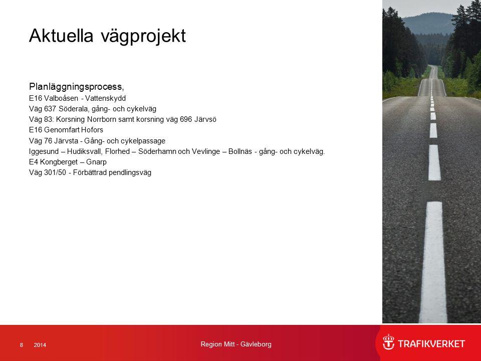 Aktuella vägprojekt Planläggningsprocess, E16 Valboåsen - Vattenskydd