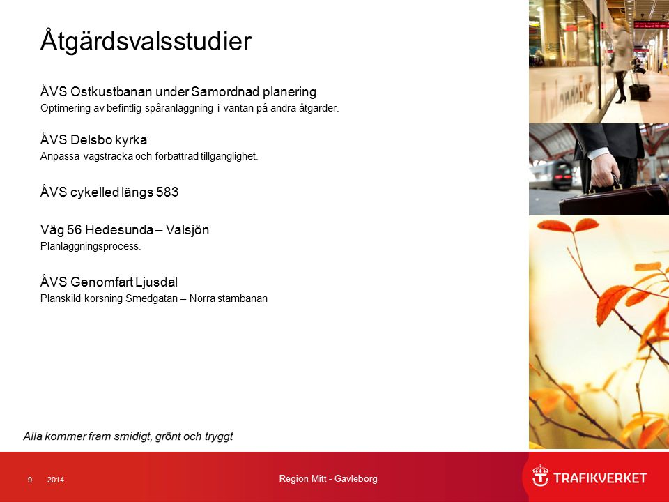 Åtgärdsvalsstudier ÅVS Ostkustbanan under Samordnad planering