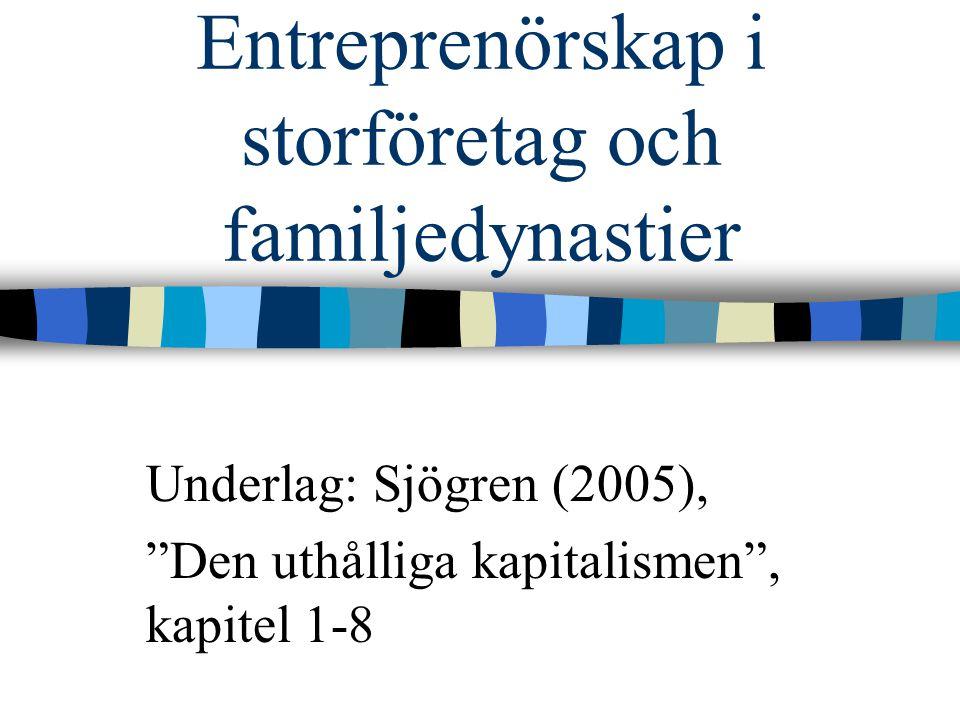 Entreprenörskap i storföretag och familjedynastier