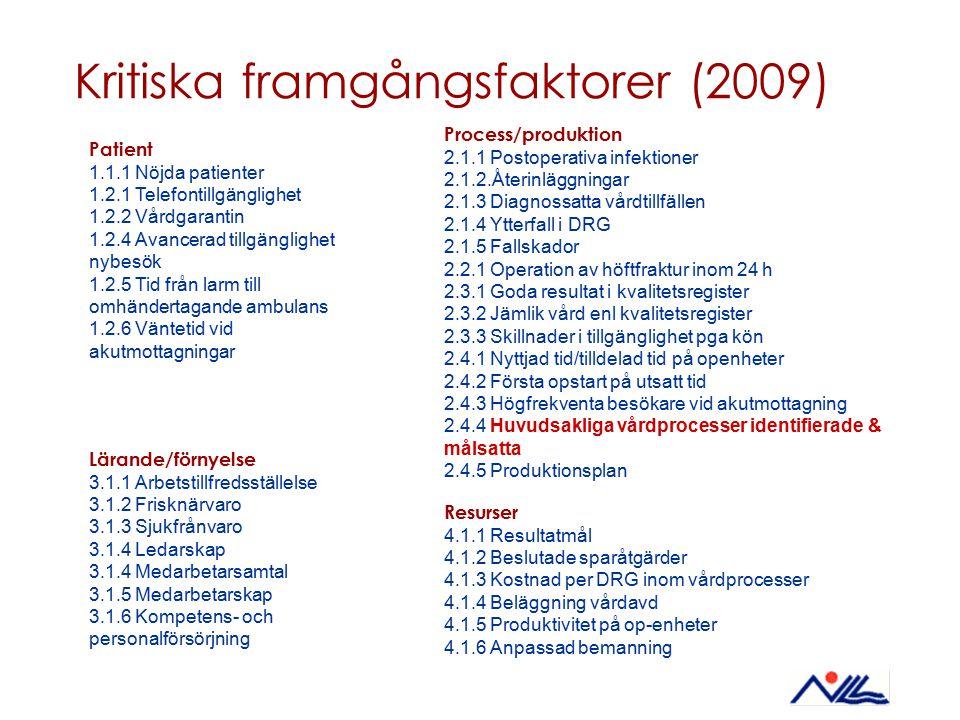 Kritiska framgångsfaktorer (2009)