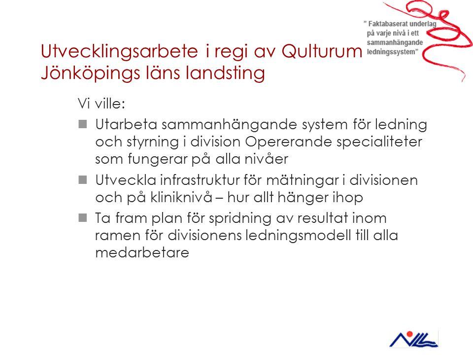 Utvecklingsarbete i regi av Qulturum – Jönköpings läns landsting