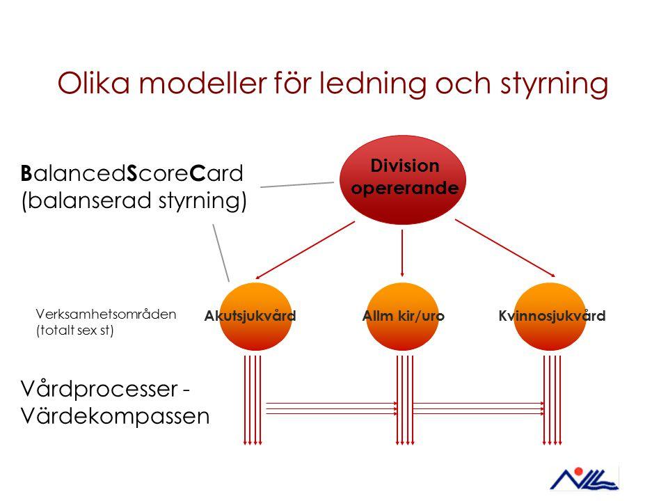 Olika modeller för ledning och styrning