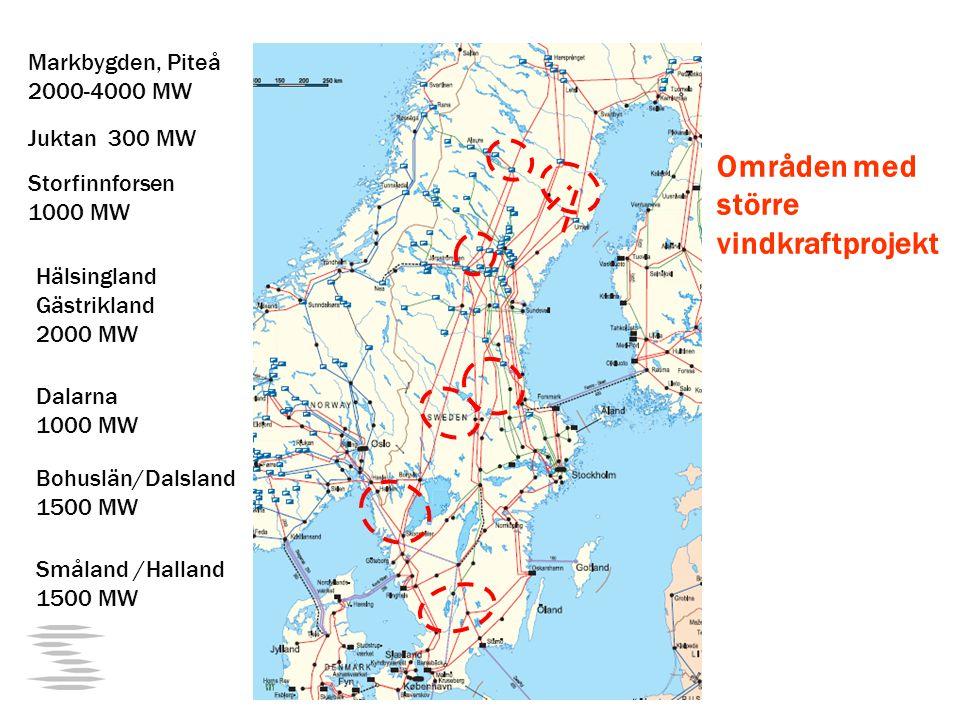 Områden med större vindkraftprojekt