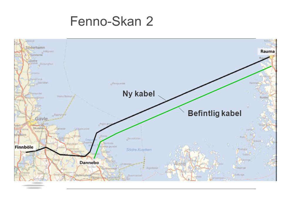 Fenno-Skan 2 Ny kabel Befintlig kabel