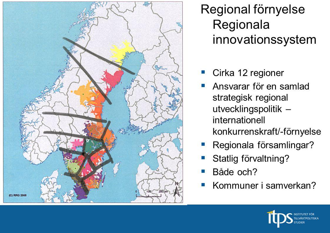 Regional förnyelsepolitik innovationssystem