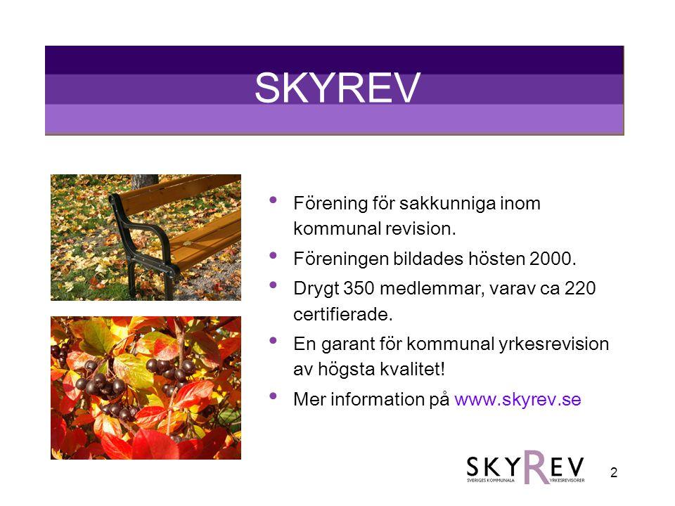 SKYREV Förening för sakkunniga inom kommunal revision.