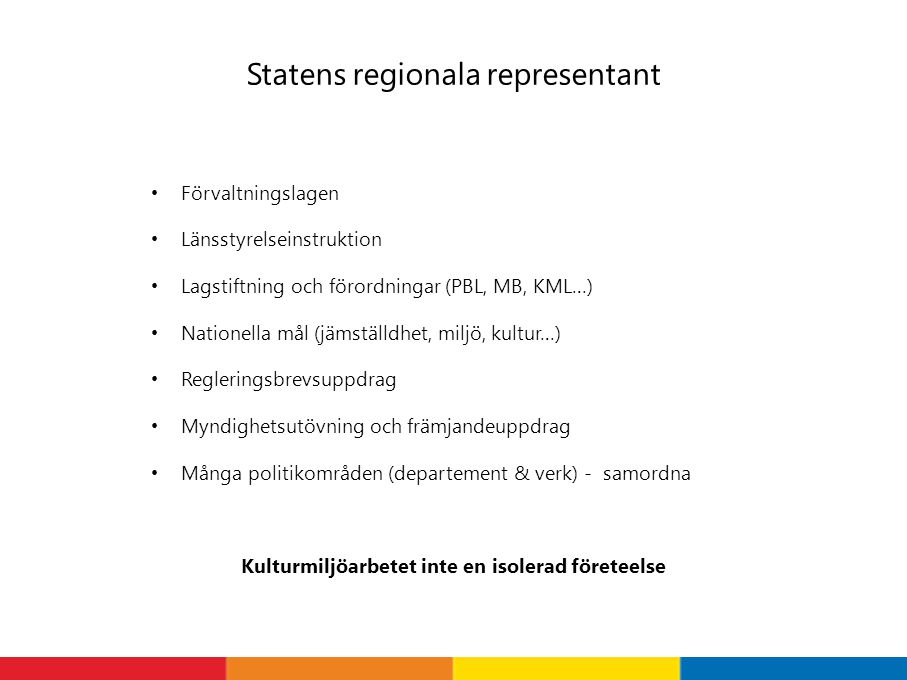 Statens regionala representant