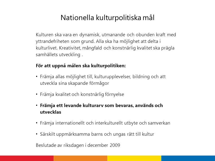 Nationella kulturpolitiska mål