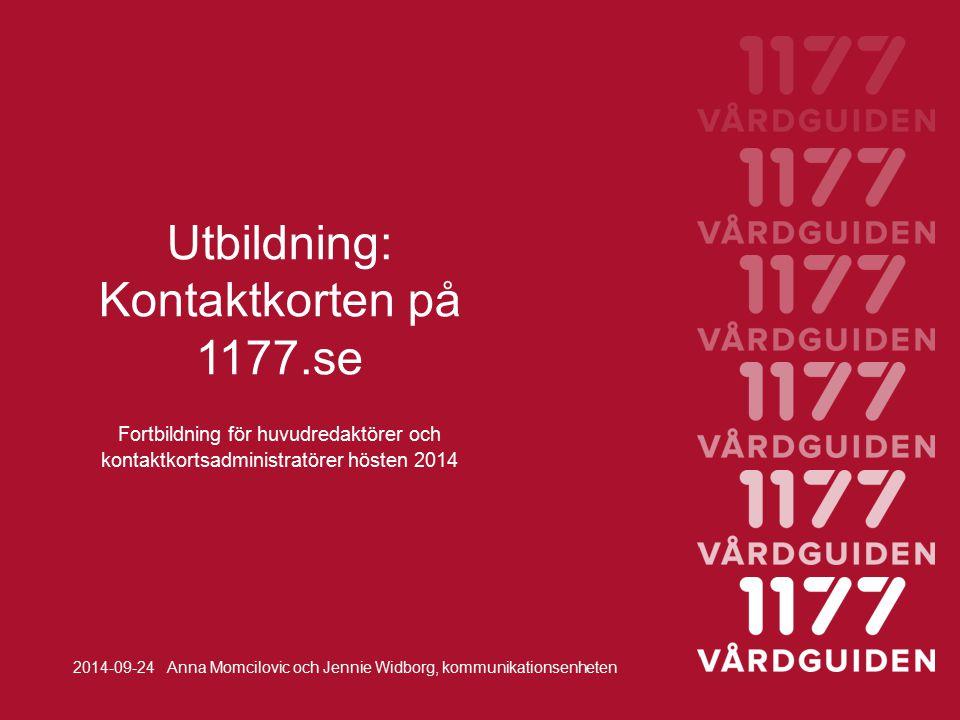 Utbildning: Kontaktkorten på 1177.se