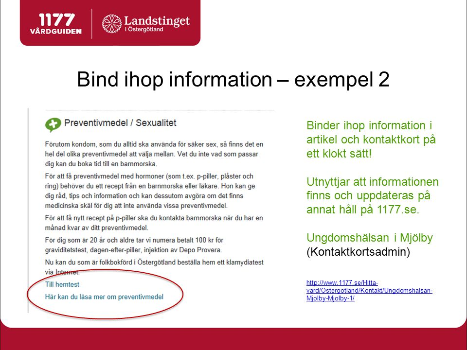 Bind ihop information – exempel 2