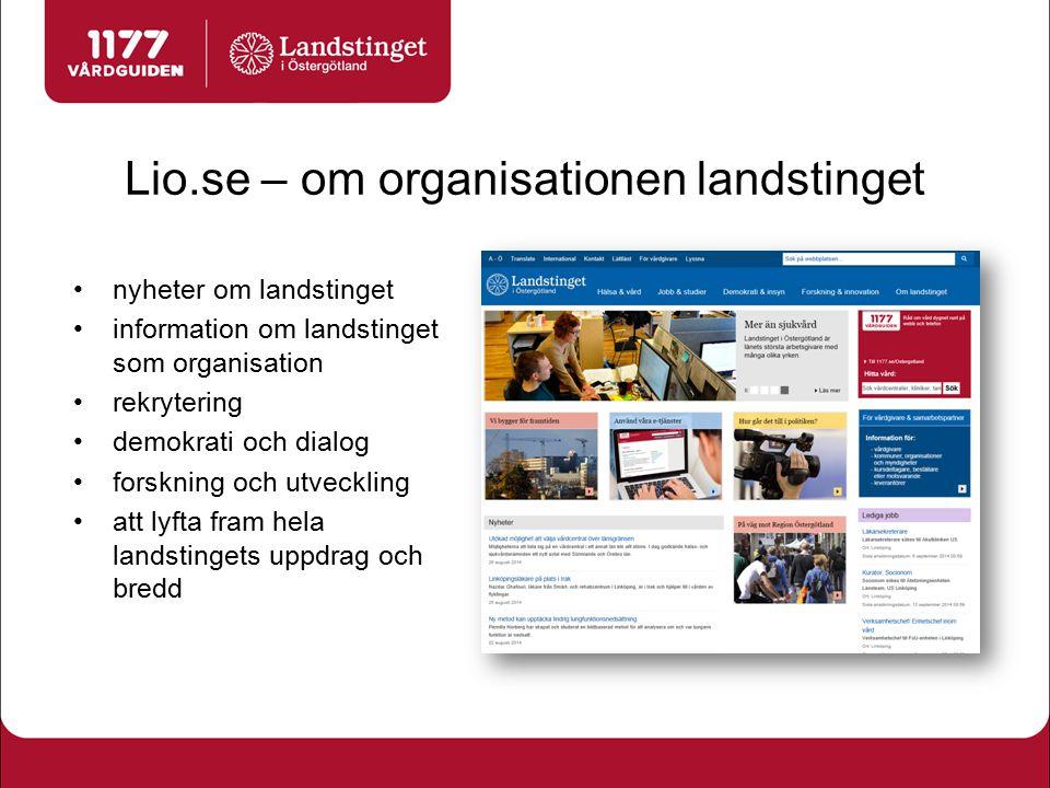 Lio.se – om organisationen landstinget