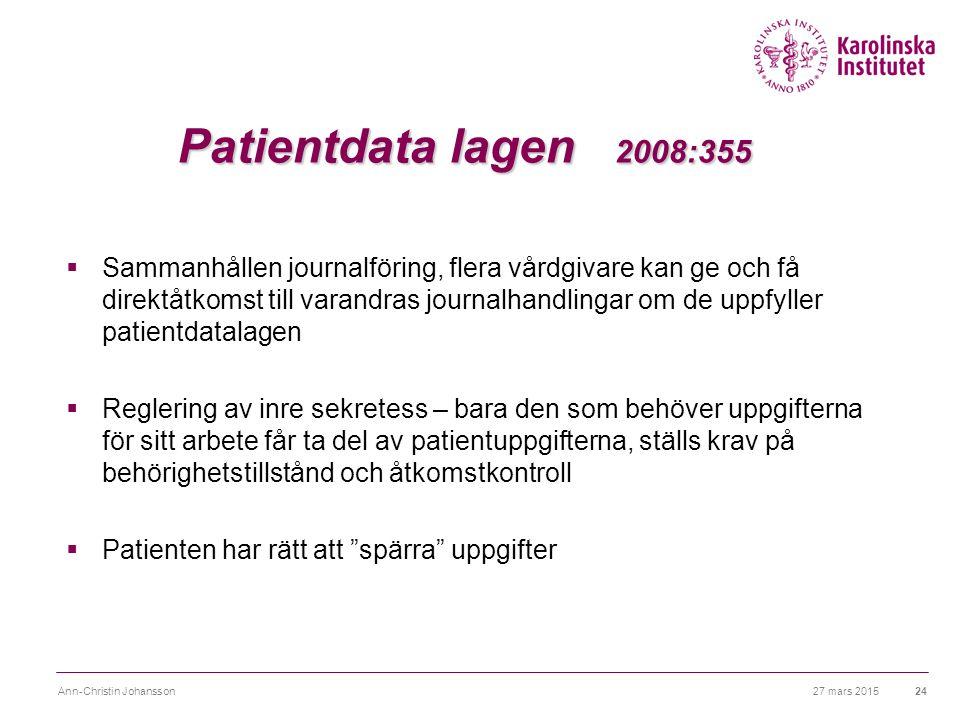 Patientdata lagen 2008:355