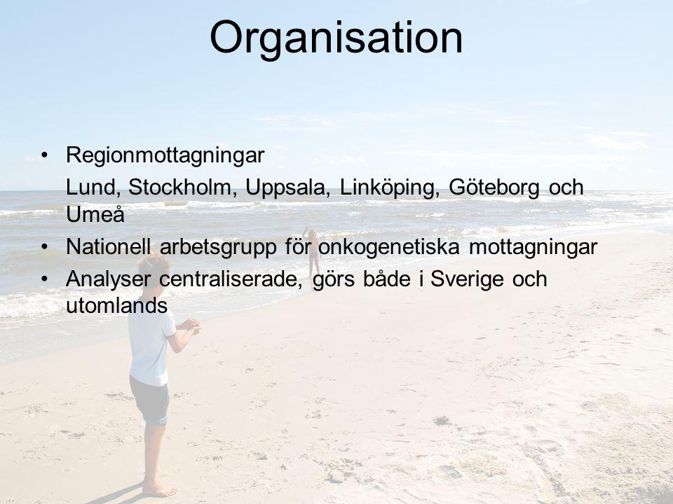 Organisation Regionmottagningar