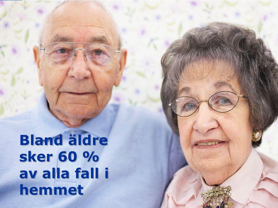 Bland äldre sker 60 % av alla fall i hemmet