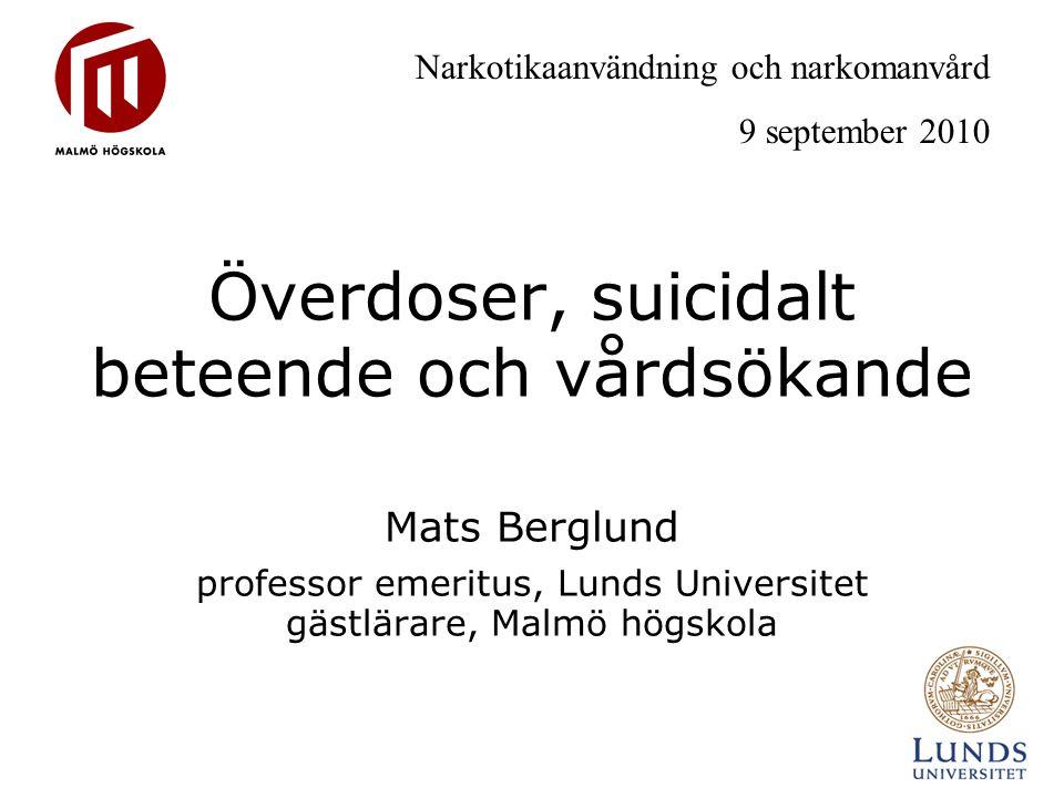 Överdoser, suicidalt beteende och vårdsökande