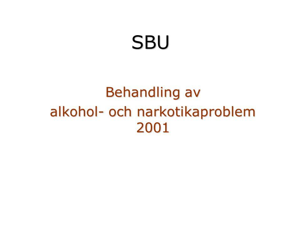 Behandling av alkohol- och narkotikaproblem 2001