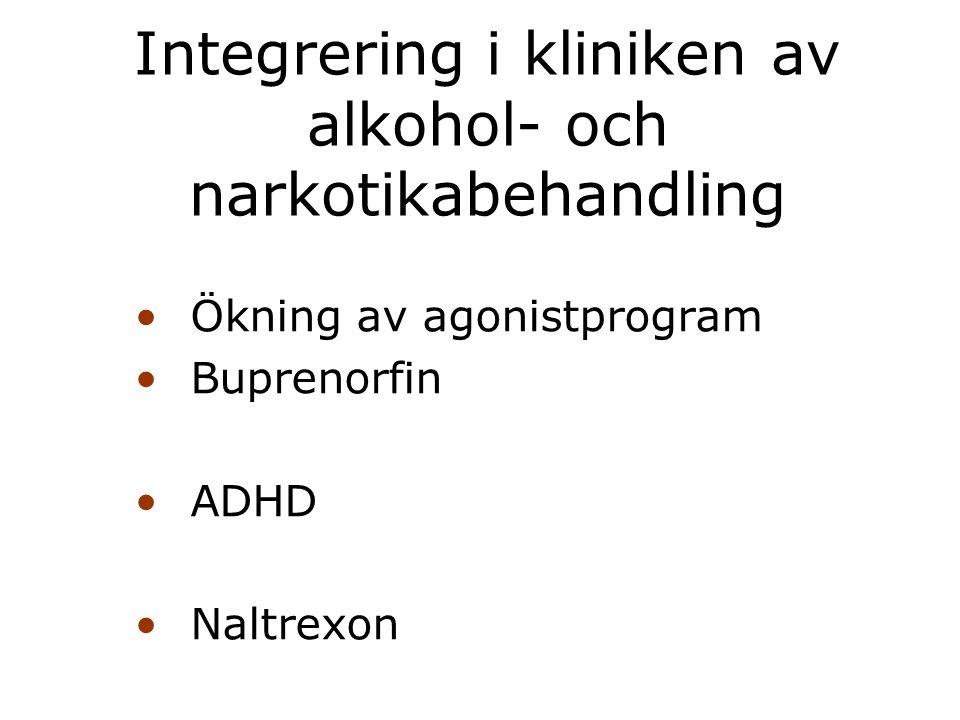 Integrering i kliniken av alkohol- och narkotikabehandling