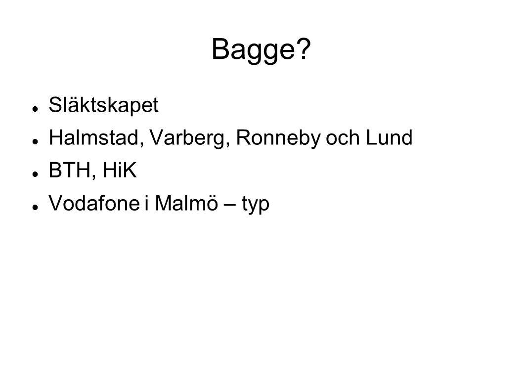 Bagge Släktskapet Halmstad, Varberg, Ronneby och Lund BTH, HiK