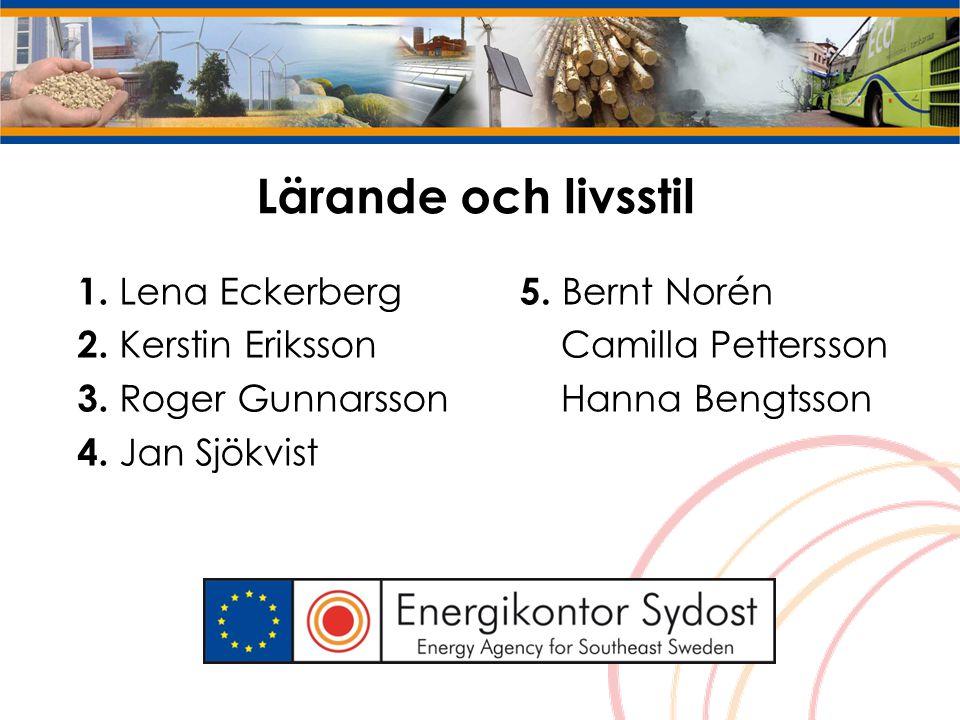 Lärande och livsstil 1. Lena Eckerberg 2. Kerstin Eriksson