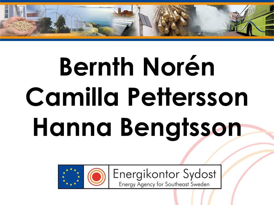 Bernth Norén Camilla Pettersson Hanna Bengtsson