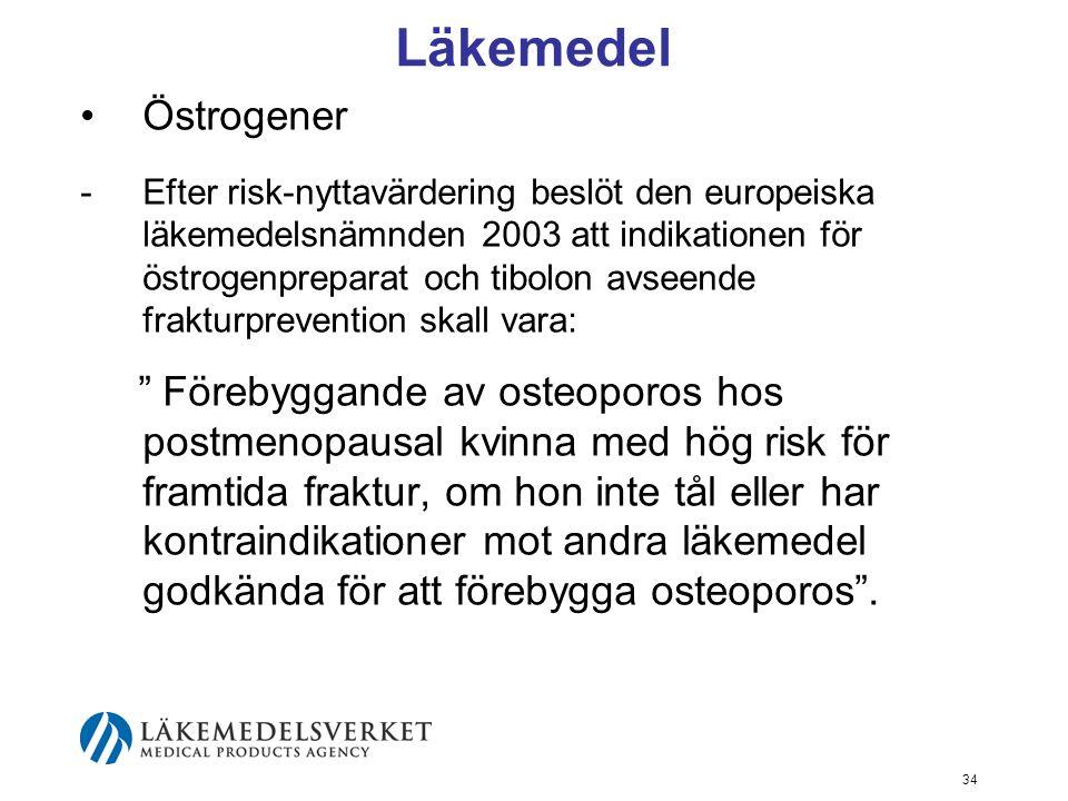 Läkemedel Östrogener.