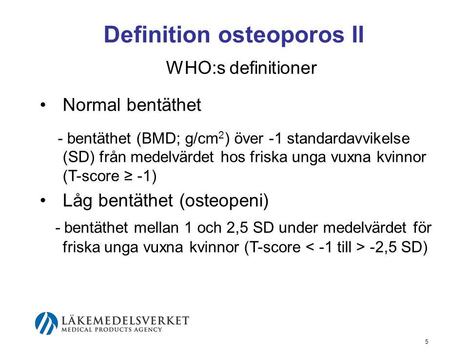 Definition osteoporos II