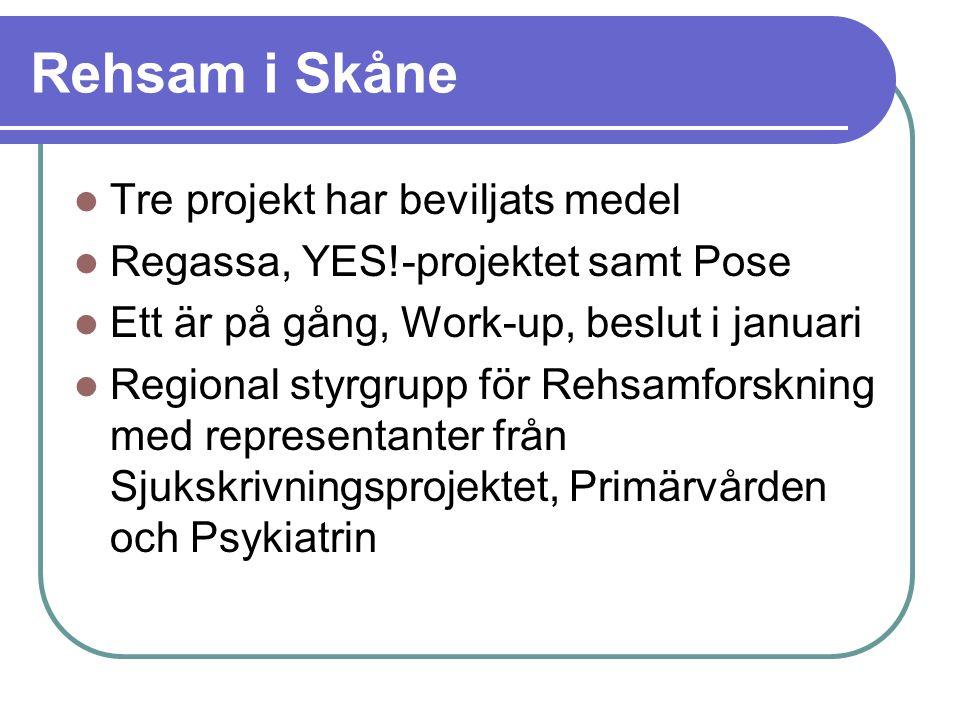 Rehsam i Skåne Tre projekt har beviljats medel