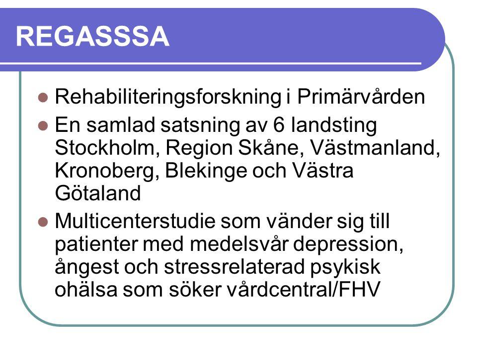 REGASSSA Rehabiliteringsforskning i Primärvården
