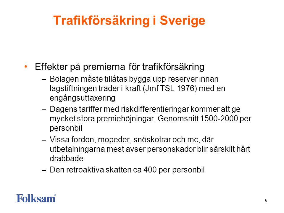 Trafikförsäkring i Sverige