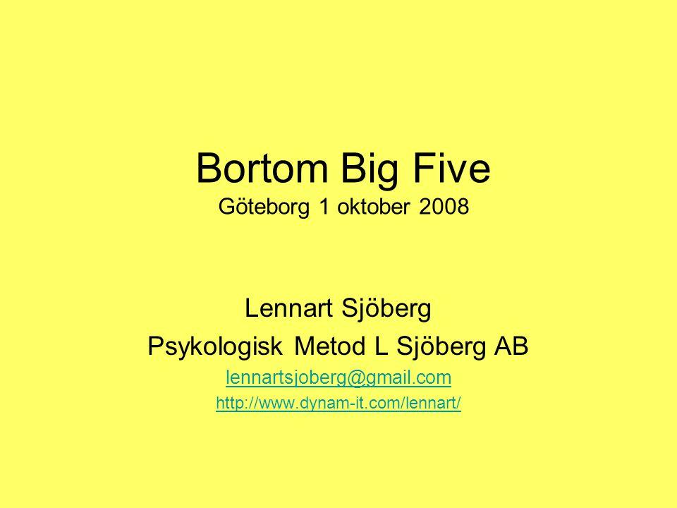 Bortom Big Five Göteborg 1 oktober 2008