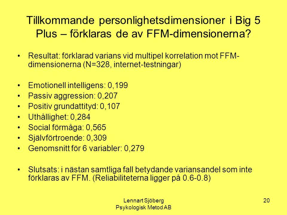 Lennart Sjöberg Psykologisk Metod AB